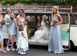 Splitscreen Campervan for weddings in Eastbourne